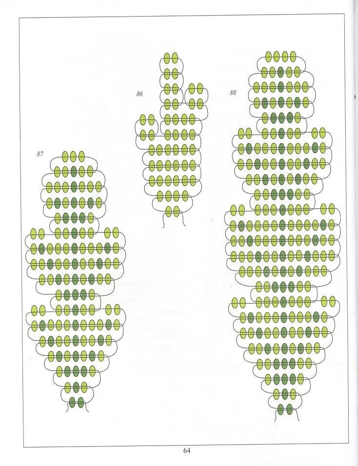 Плетения бисером листиков