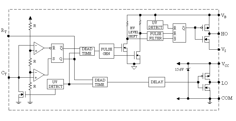 Блок схема ИС IR2155.